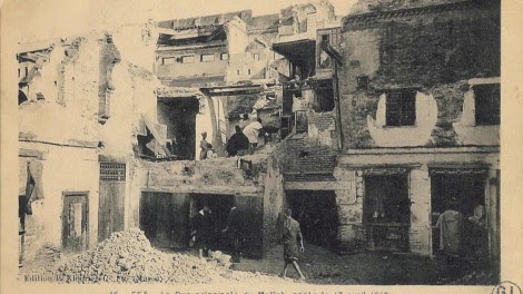 The aftermath of the Fes pogrom (photo credit: Ben-Zvi Institute)