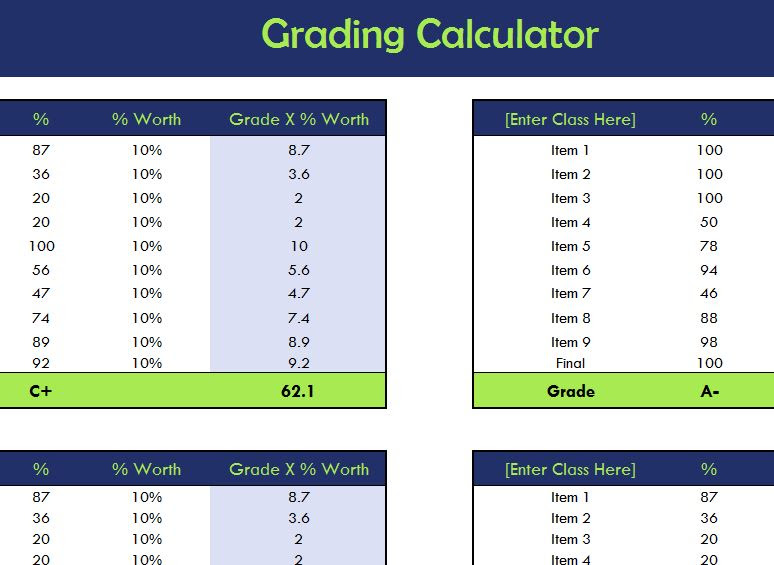 School Grading Calculator