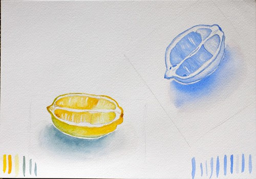 Watercolour course - week 1. Light and dark