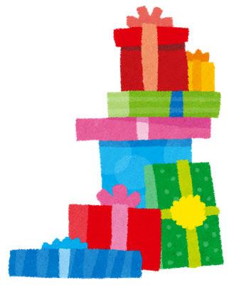 フリー素材 山積みのプレゼント箱のイラスト誕生日やクリスマスなど