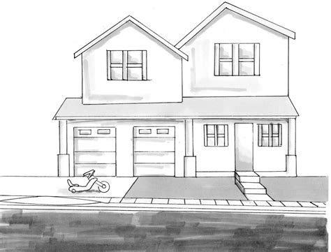 drawing home modern house     ayoqq