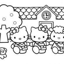 Coloriages Coloriage De La Maison De Hello Kitty Frhellokidscom