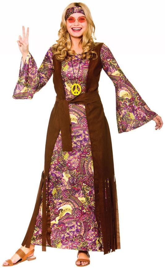 summer love hippie ladies fancy dress long hippy 60s 70s