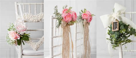 8 Beautiful DIY Wedding Chair Decorations