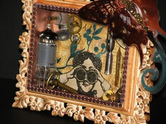 Alarm Clock Steampunk Collage 024