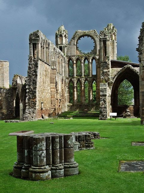 It's a beautiful world. Ruins of Elgin Cathedral formerly known as The Lantern Of The North, Scotland