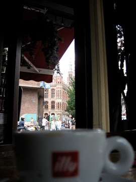 Nice to look up from your espresso and see this beautiful city...