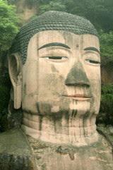 Il Buddha gigante di Leshan, nello Sichuan, in Cina.