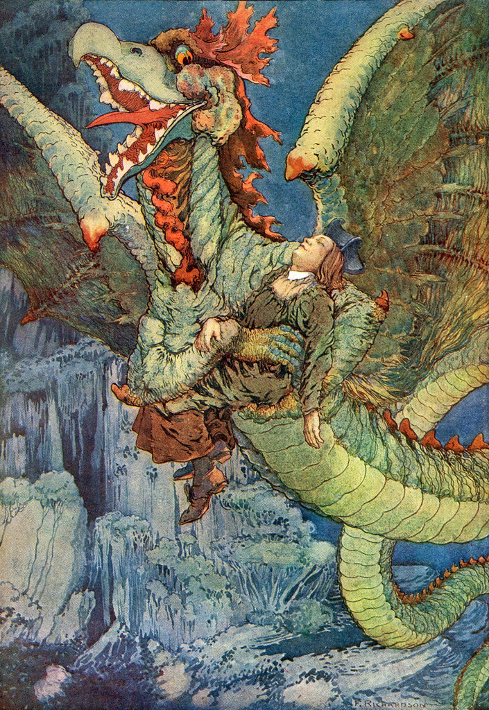 "Frederick Richardson -  Illustration From ""The Queen's Museum and Other Fanciful Tales"" by Frank R. Stockton, 1906 (1)"