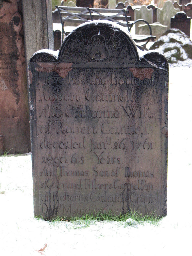 Gravestone at Trinity Church