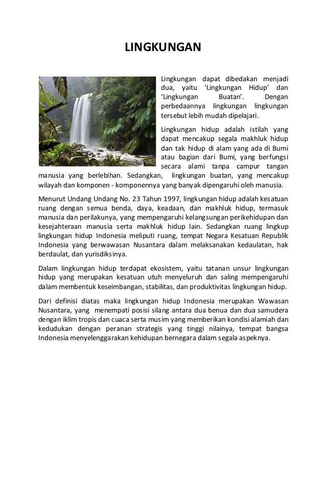 Contoh Eksposisi Lingkungan - Contoh M
