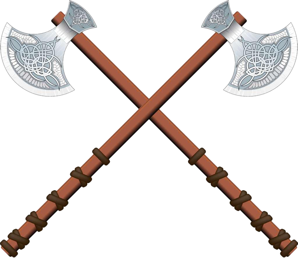 Axe Celts Illustration - Two axes cross png download ...