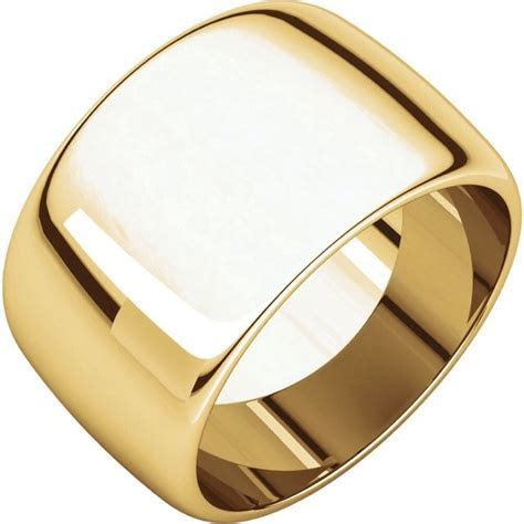 14K Gold Ring SALE! 15mm 14K Yellow Gold or White Gold