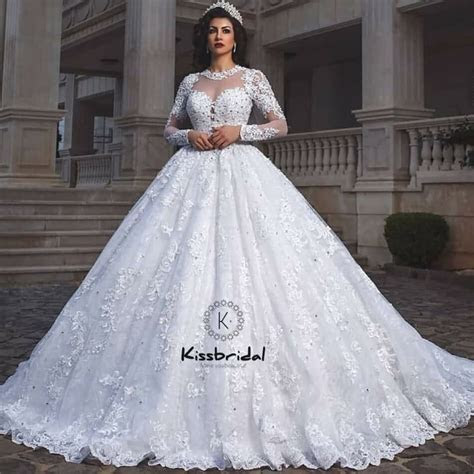 vestido de noiva Newest Princess Style Wedding Dress Ball