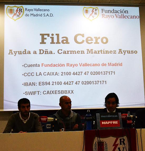 El Rayo Vallecano ha puesto en marcha una cuenta corriente para ayudar a Carmen, que permanecerá abierta hasta el próximo 22 de diciembre. (© Foto: L. HERRERA / Vallecasweb.com)