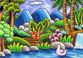 Gambar Pemandangan Gunung Untuk Anak Sd Kelas 4