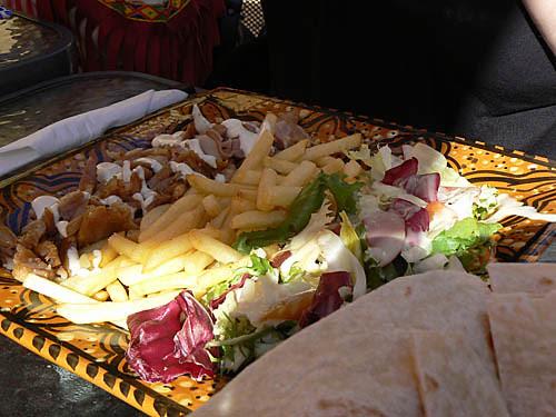 assiette de kebab