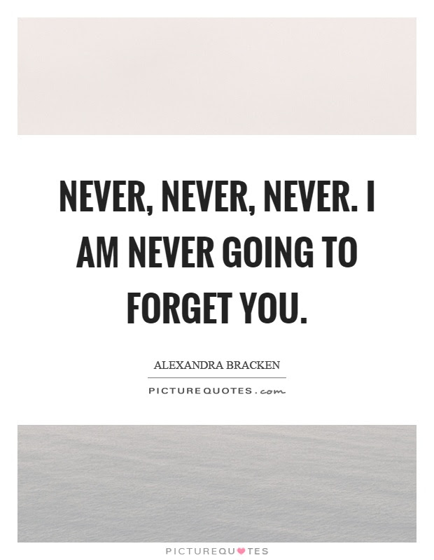 Never Forget You Quotes Sayings Never Forget You Picture Quotes