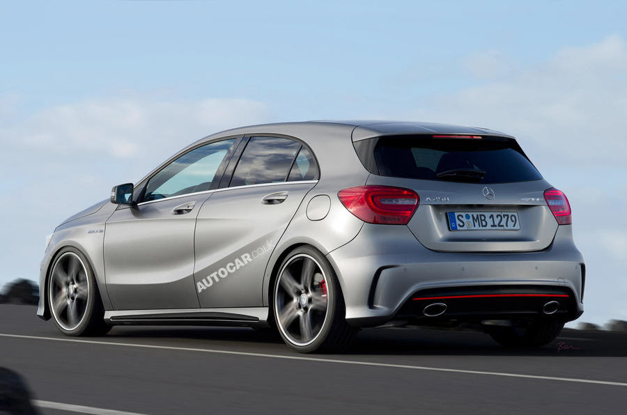 A45 AMG will have a seven-speed dual clutch gearbox. A Haldex-style ...
