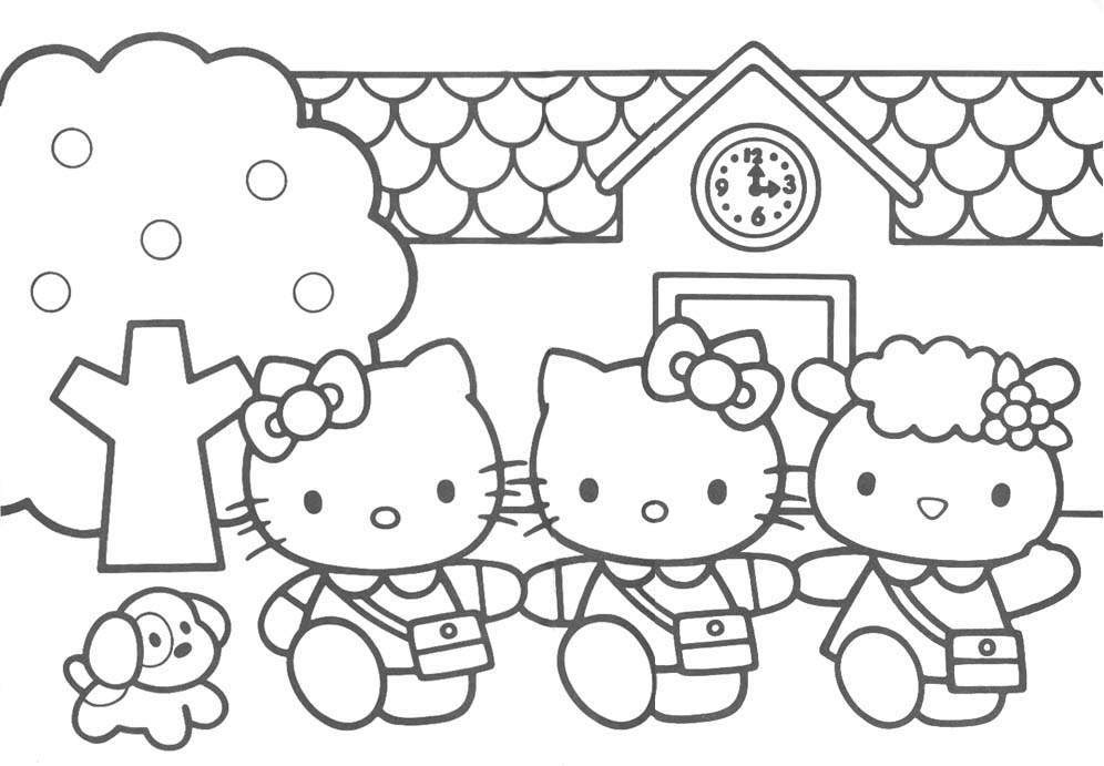Hello Kitty Downloads Coloring Pages
