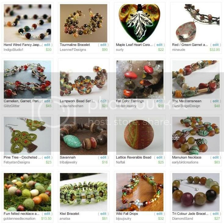 Etsy Picks: Brown, Green and Red