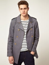 Asos Grey Trench Coat