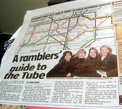Students Walking Tube Map - London Lite - 26th Feb 2007