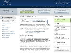 Inscrições no site do Prouni foram abertas nesta quinta-feira (28) (Foto: Reprodução)