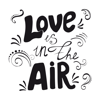Mobisoft Labs - Love in Air Stickers artwork