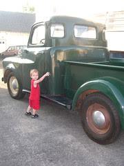 My nephew Sean explores the prop truck