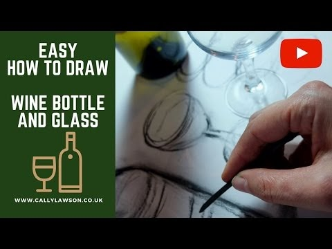 How To Draw A Wine Bottle Easy Beginners Tutorial