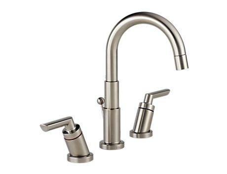 Discount Brizo 6516019 Bn Trevi Brushed Nickel Bathroom Sink Lavatory Faucet Two Handle