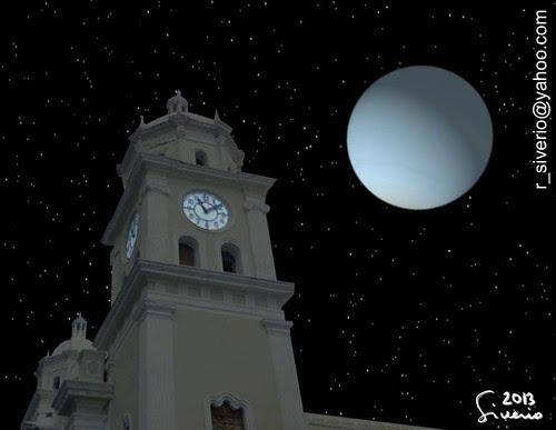 Urano sobre La Catedral de Valencia. 11:20 pm by Niño Jesús