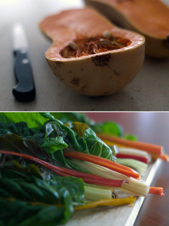 Preparando uma salada