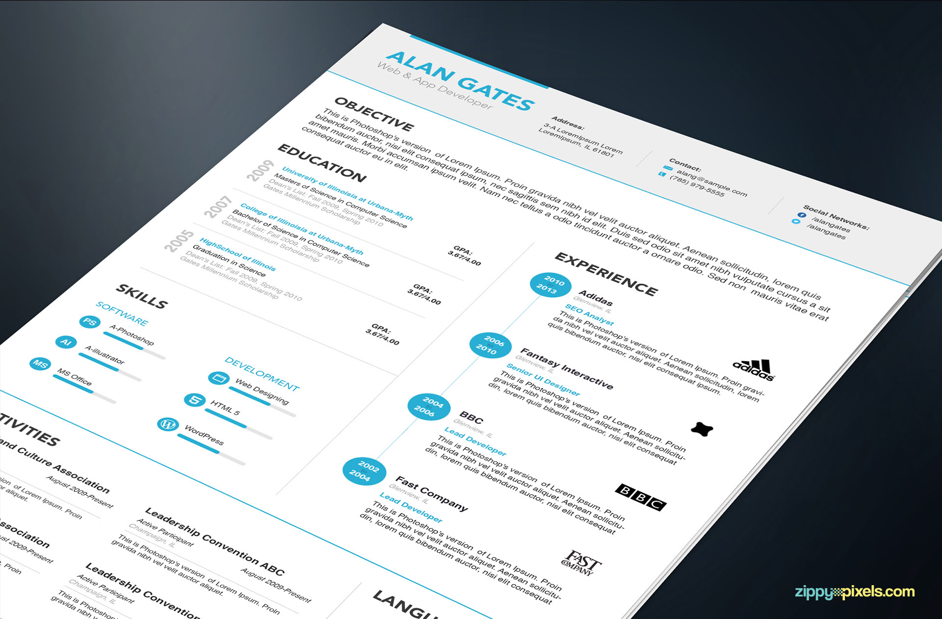 Professional Resume & Cover Letter Template – MS Word & PSD Formats