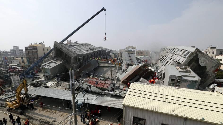 Terremoto 6,4 sacude a Taiwán: al menos siete muertos y 400 heridos