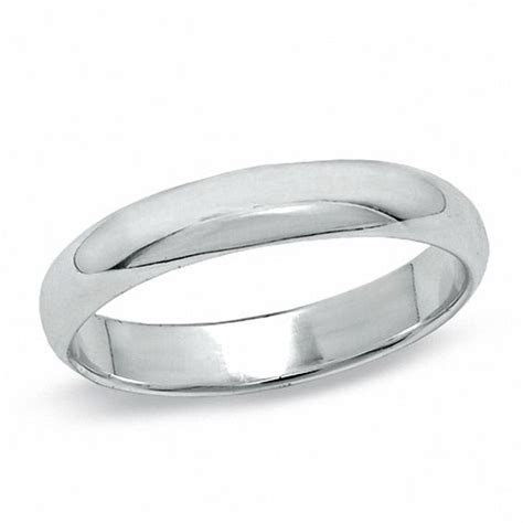 4mm Sterling Silver Polished Wedding Band   Size 10   Bold