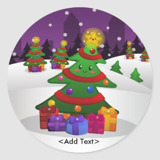 Cheery Christmas Tree Sticker