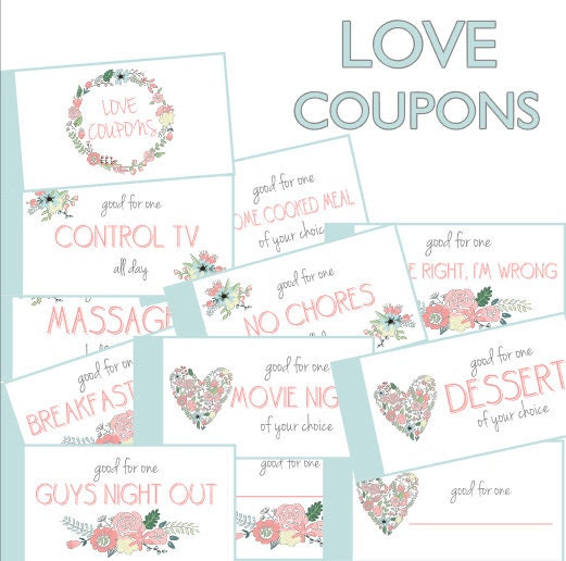Romantic And Naughty Printable Love Coupons For Him | Glitter