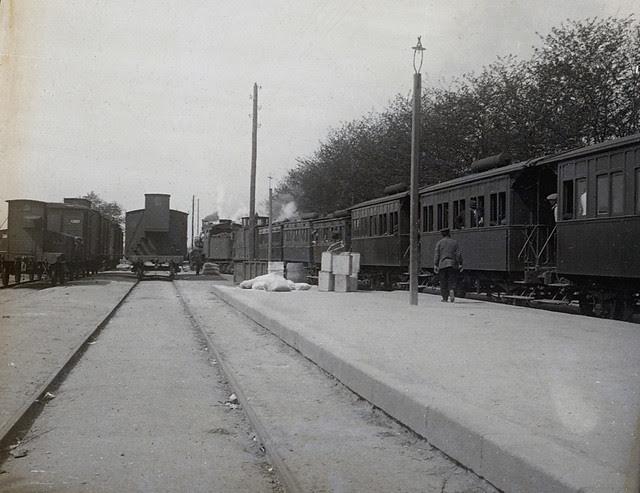 Estación de ferrocarril de Toledo en 1915. Fotografía de Luis Calandre Ibáñez