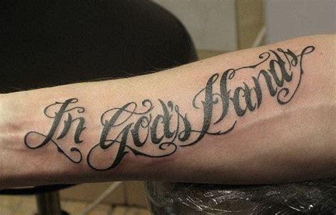 gods hands quote tattoo arm tattooimagesbiz