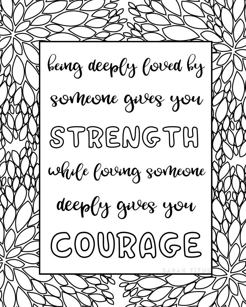 970 Free Printable Sayings Coloring Pages For Adults Images & Pictures In HD