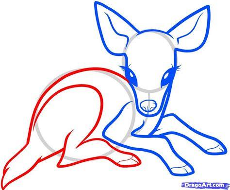 cuteanimedeer   draw  baby deer baby deer step