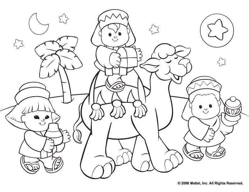Christmas Religious Printable Coloring Pages - Coloring Home