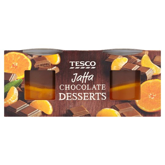 Tesco Jaffa Chocolate Dessert 2 X125g
