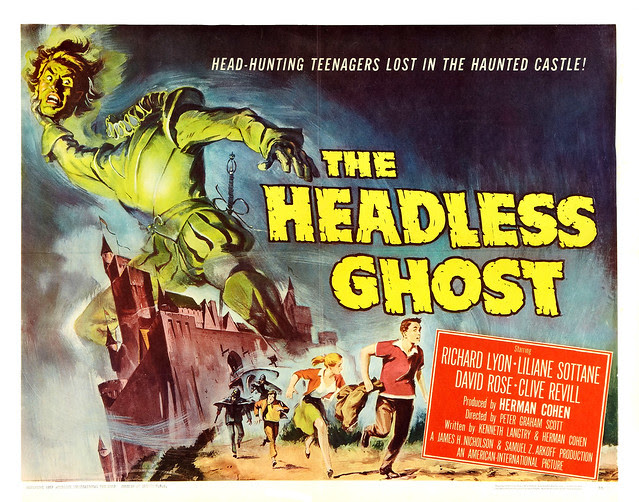 Reynold Brown - The Headless Ghost (American International, 1959) half sheet