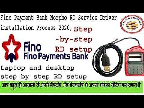Fino Payment Bank Morpho RD Service Driver installation Process 2020