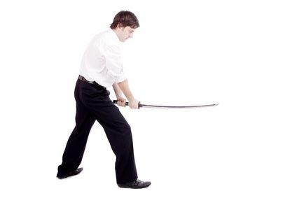cut by sword