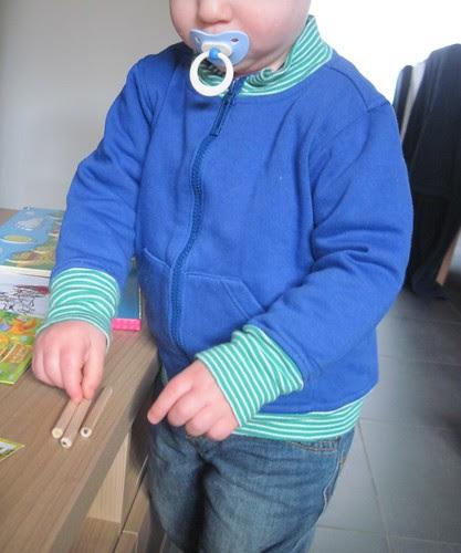 trui blauw groen