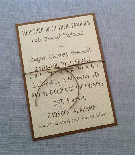 Rustic Modern Wedding Invitations. $2.00, via Etsy